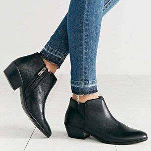 Sam Edelman Petty Ankle Boots 8 Pebbled Leather